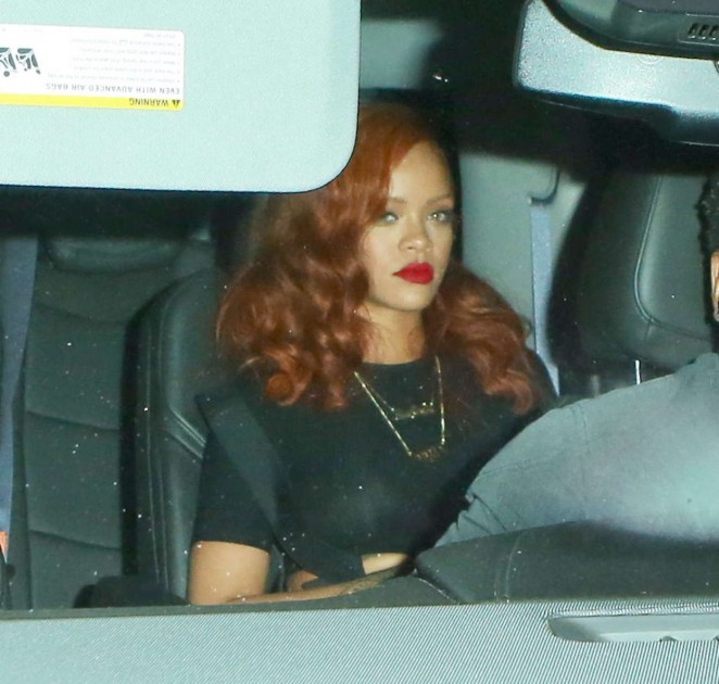 Rihanna – Leaving Giorgio Baldi in Santa Monica