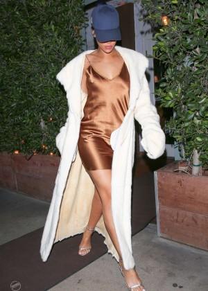 Rihanna in Short Mini Dress -01