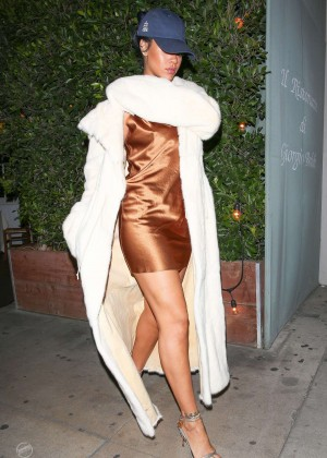 Rihanna in Short Mini Dress -02
