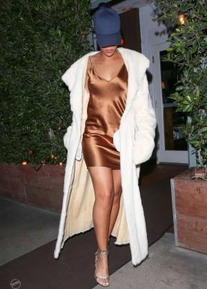 Rihanna in Short Mini Dress -08