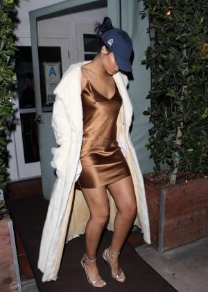 Rihanna in Short Mini Dress -13