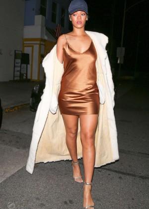 Rihanna in Short Mini Dress -14