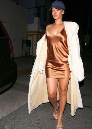 Rihanna in Short Mini Dress -16