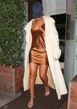 Rihanna in Short Mini Dress -18