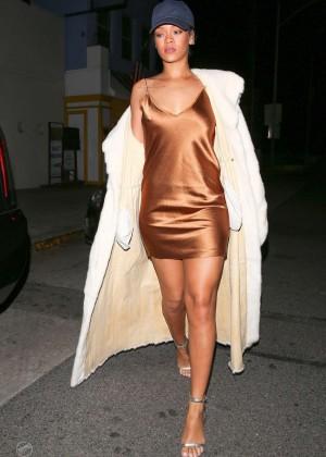 Rihanna in Short Mini Dress -19