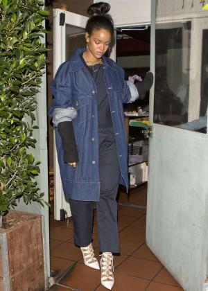 Rihanna - Leaving Giorgio Baldi Restaurant in Santa Monica