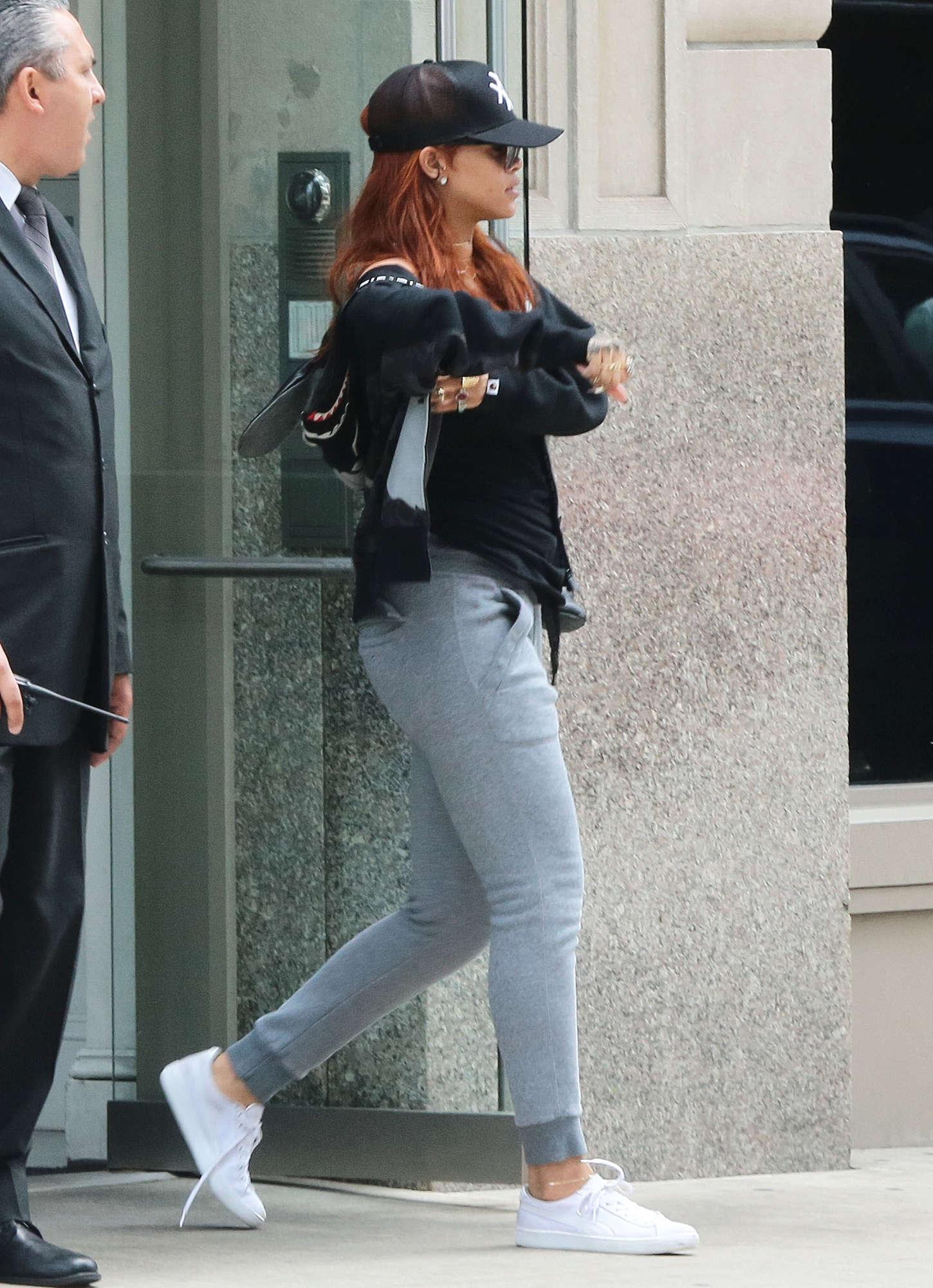 Rihanna: Leaving her apartment 03 | GotCeleb