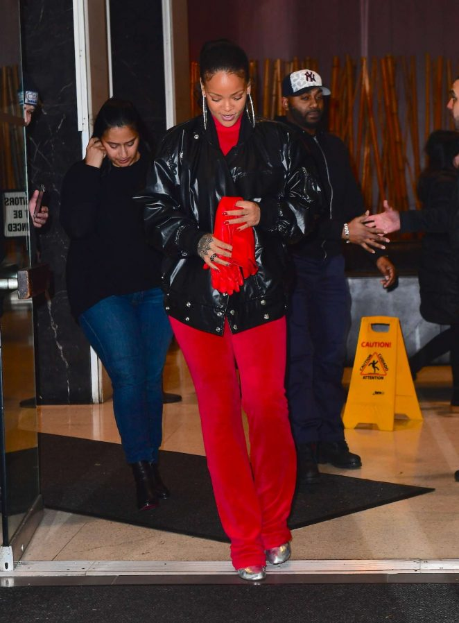 Rihanna: Leaving her dentists office in New York -04