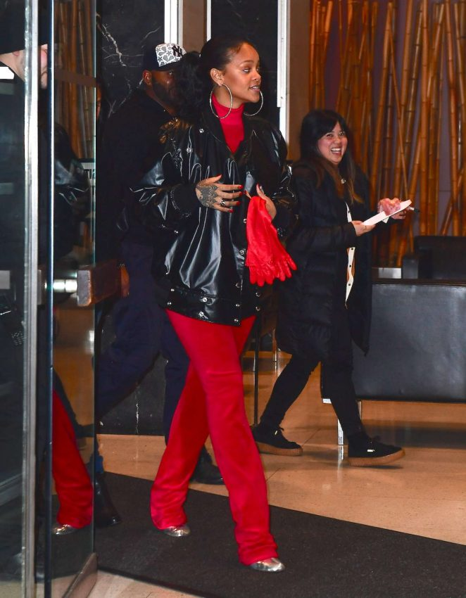 Rihanna: Leaving her dentists office in New York -07