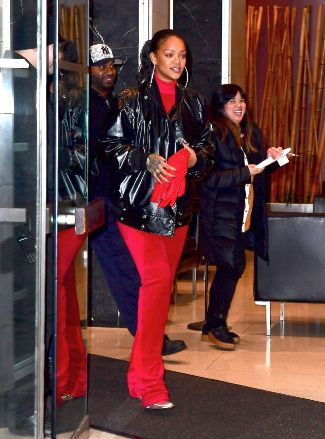 Rihanna: Leaving her dentists office in New York -08