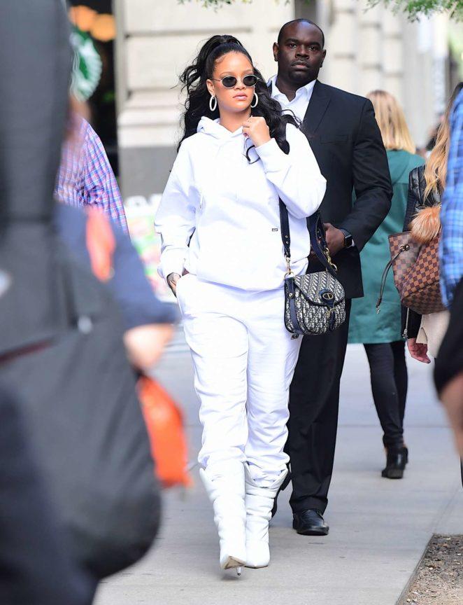 Rihanna - Leaving her hotel in New York City