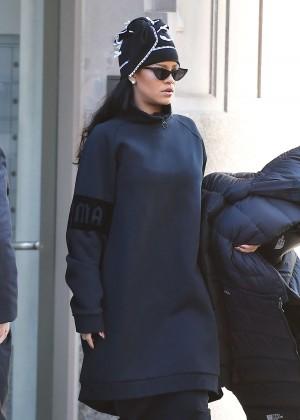 Rihanna Leaving her Soho apartment in New York City