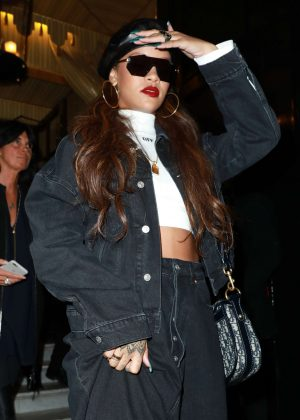 Rihanna Leaving Hotel Costes Restaurant in Paris