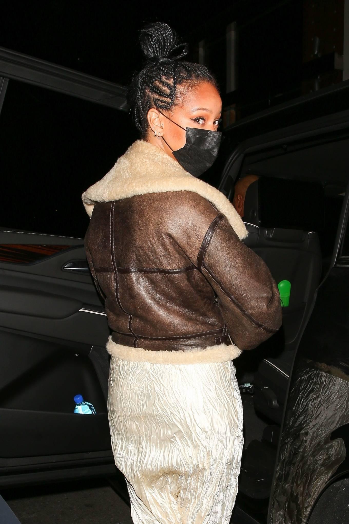Rihanna 2021 : Rihanna – leaving Nobu restaurant in West Hollywood -04