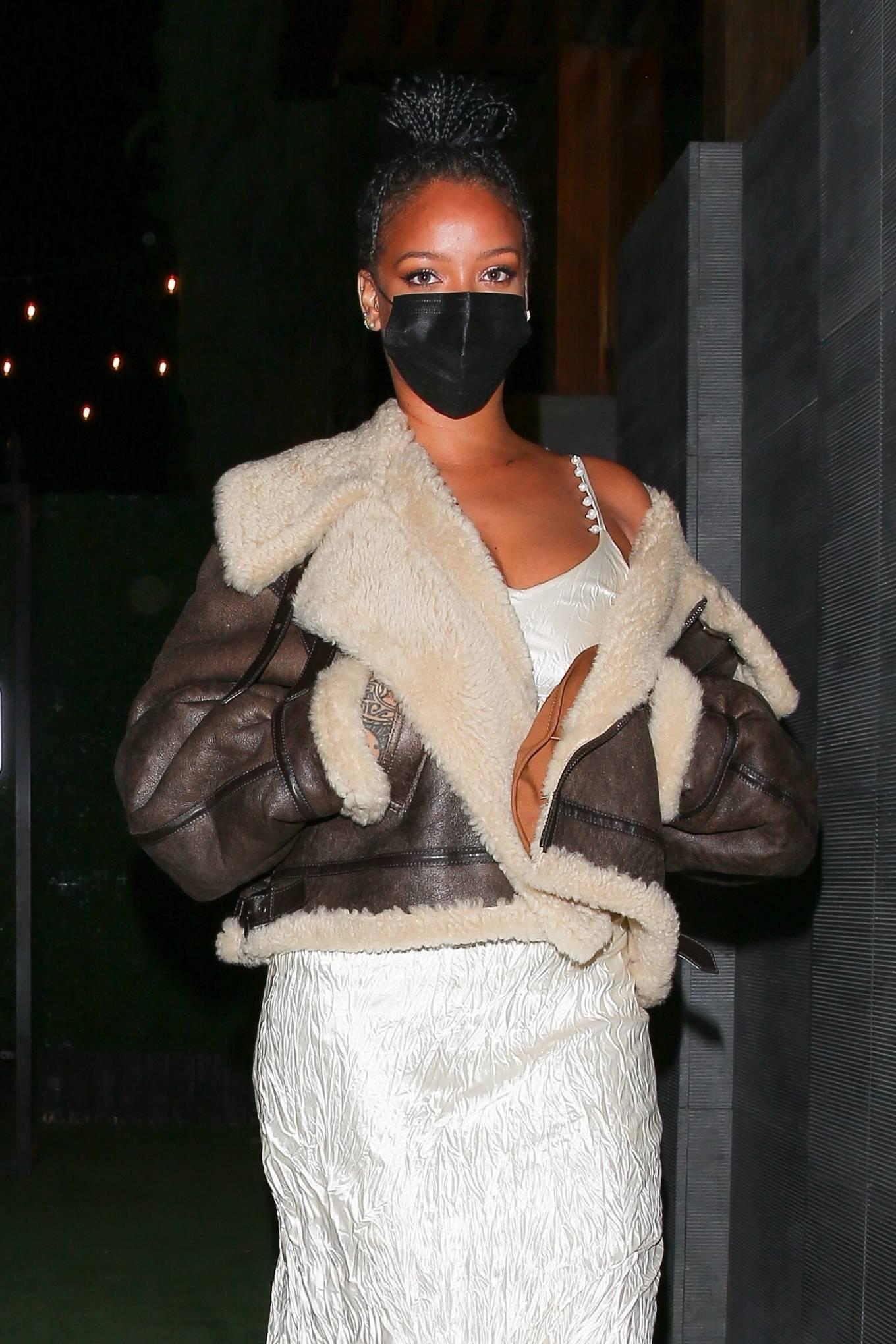 Rihanna 2021 : Rihanna – leaving Nobu restaurant in West Hollywood -06