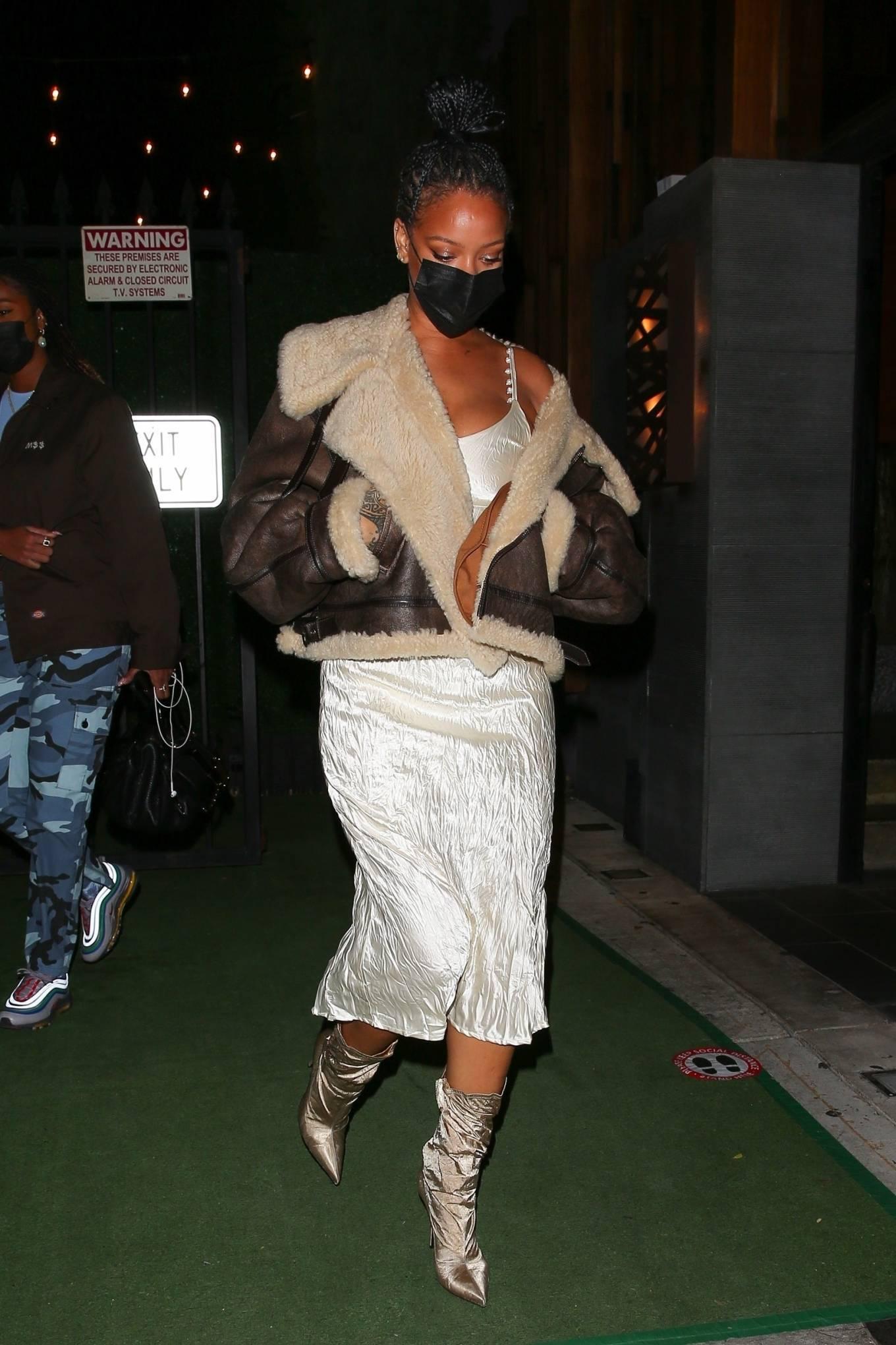 Rihanna 2021 : Rihanna – leaving Nobu restaurant in West Hollywood -13