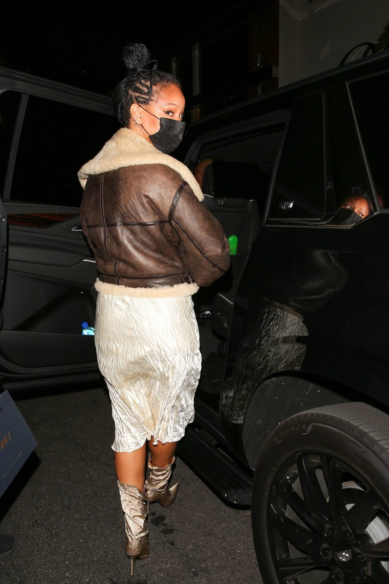 Rihanna 2021 : Rihanna – leaving Nobu restaurant in West Hollywood -17