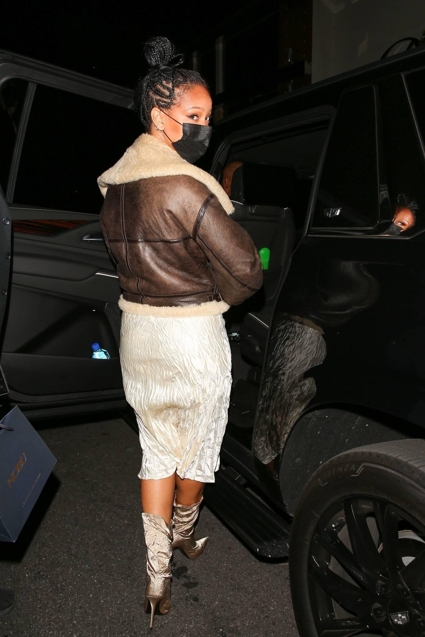 Rihanna 2021 : Rihanna – leaving Nobu restaurant in West Hollywood -23