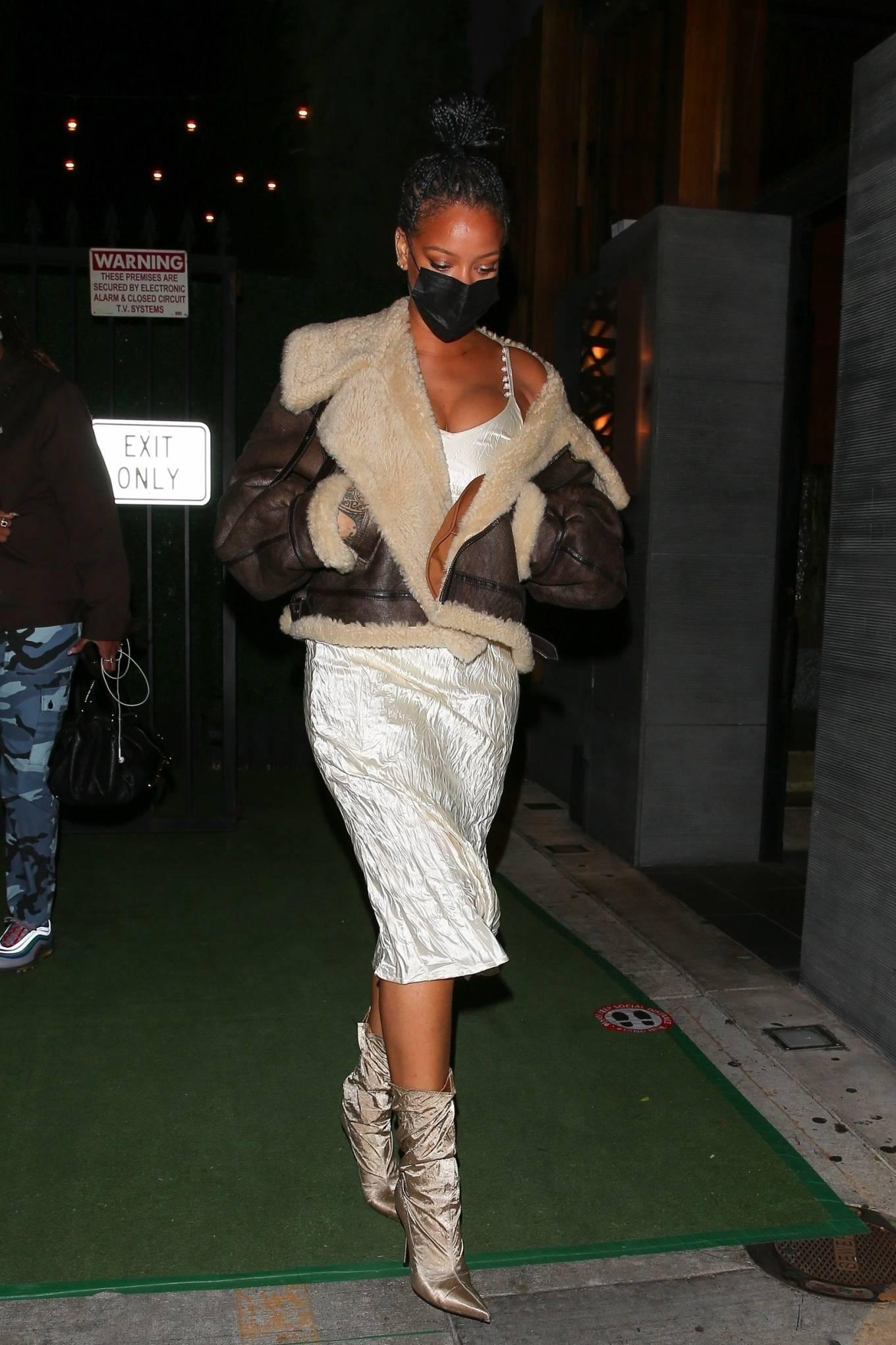 Rihanna - leaving Nobu restaurant in West Hollywood