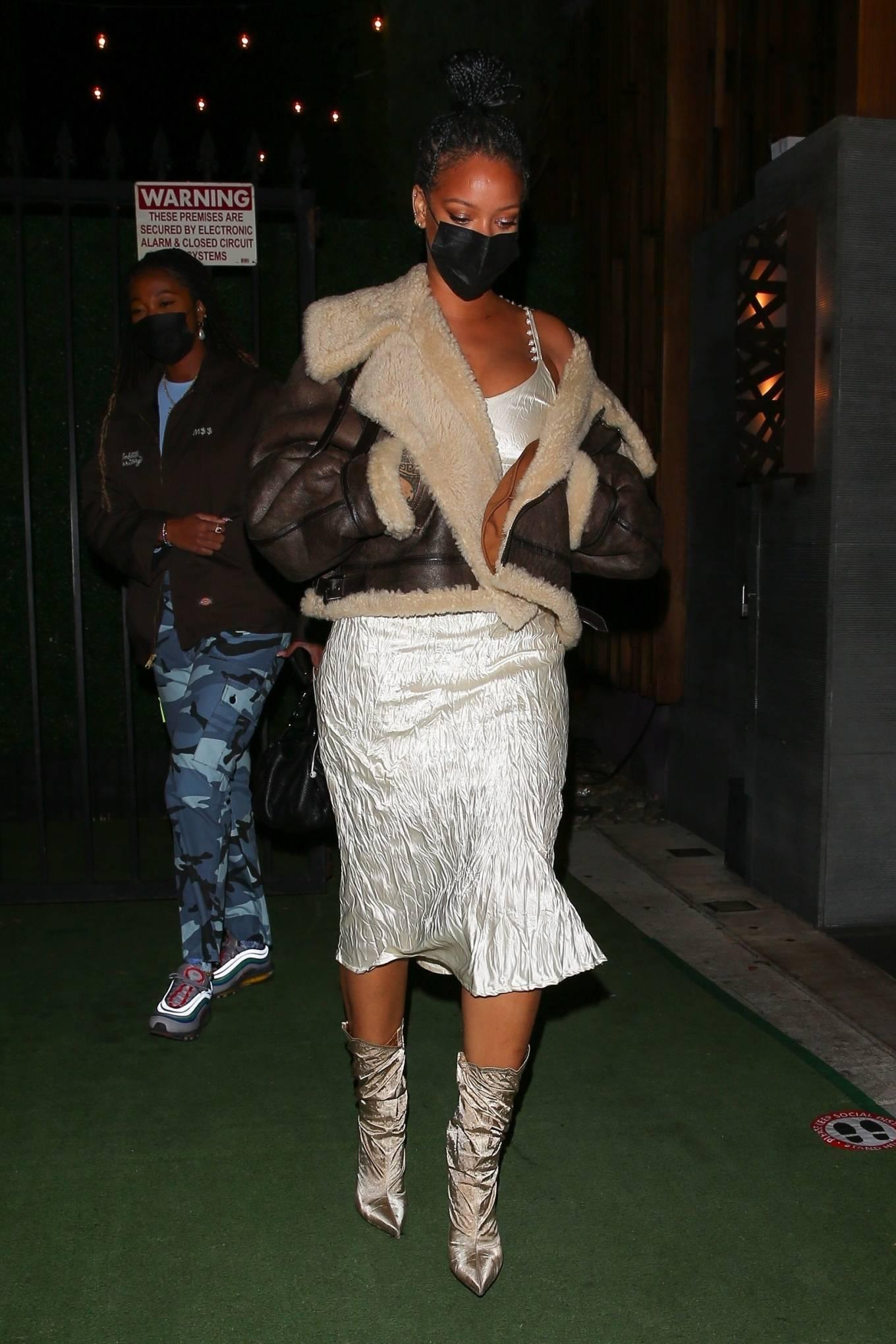 Rihanna 2021 : Rihanna – leaving Nobu restaurant in West Hollywood -25