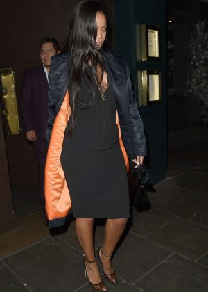Rihanna - Leaving Ours restaurant in Chelsea