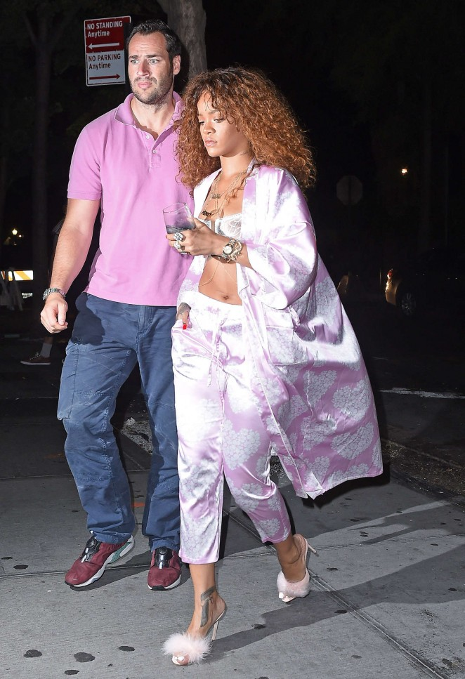 Rihanna: Leaving Recording studio -14