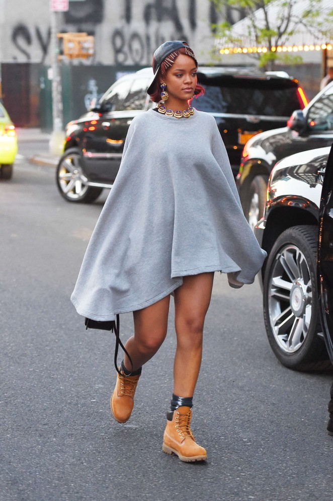 Rihanna: Leaving the Bowery Hotel -11