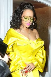 Rihanna - Leaving the Fenty Beauty Influencer Event in London