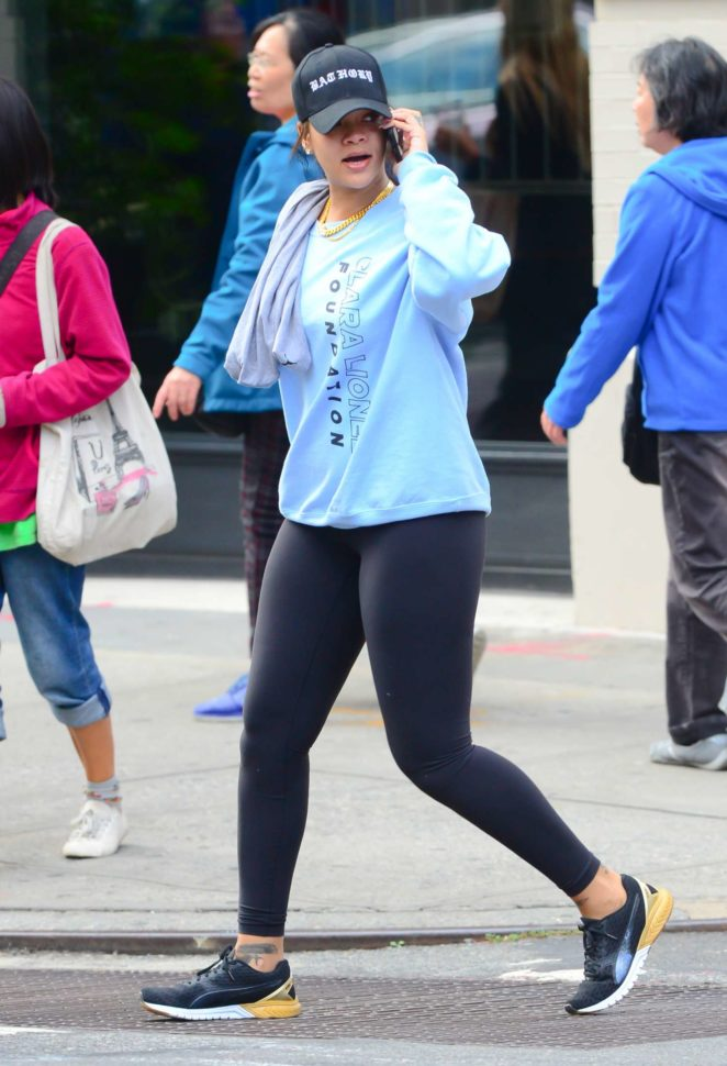 Rihanna - Leaving the gym in New York City