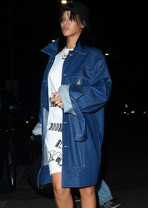 Rihanna Night Out at Giorgio Baldi Restaurant