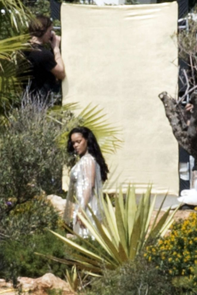 Rihanna on Photoshoot in Ibiza