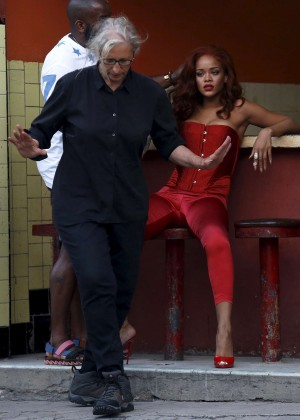 Rihanna Hot in Red -01