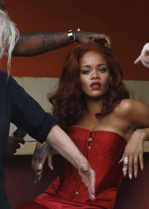 Rihanna Hot in Red -04