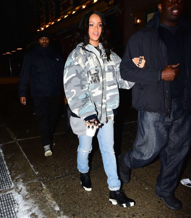 Rihanna in Jeans Out and about in NYC