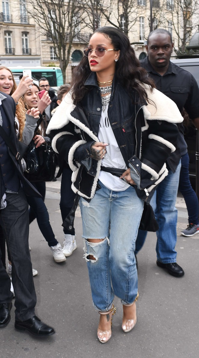 Rihanna – Out and about in Paris