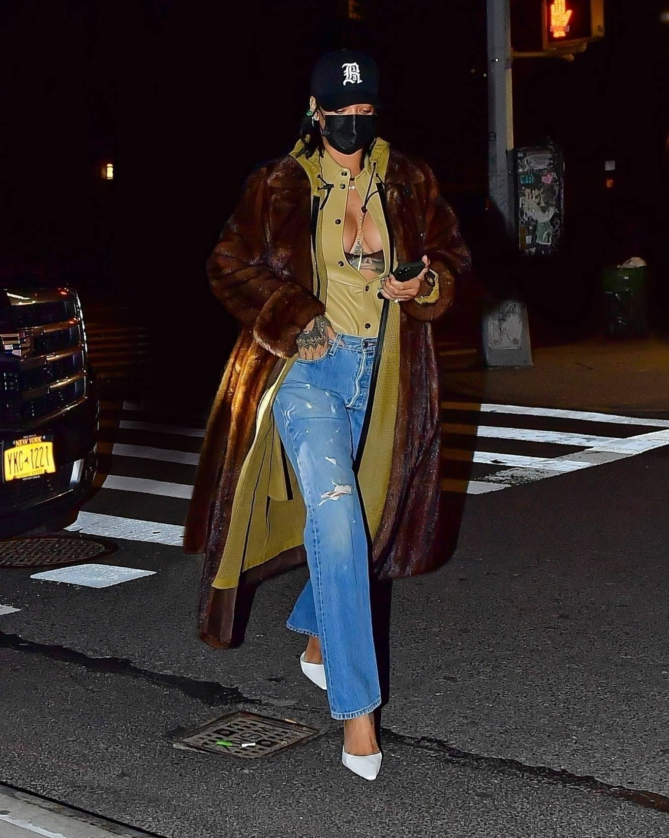 Rihanna - Out for a dinner date with A$AP Rocky in NYC