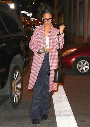 Rihanna - Out for dinner in NYC