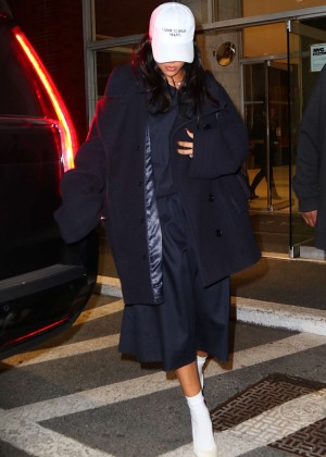 Rihanna out in NY