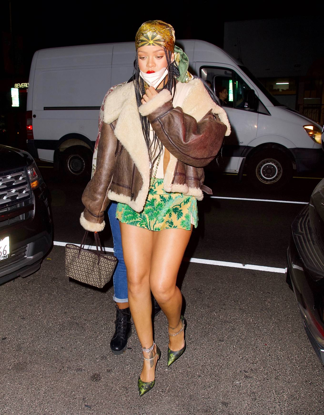 Rihanna - Parties at The Nice Guy in mini skirt in Los Angeles