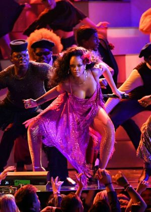 Rihanna - Performs at 2018 GRAMMY Awards in New York City