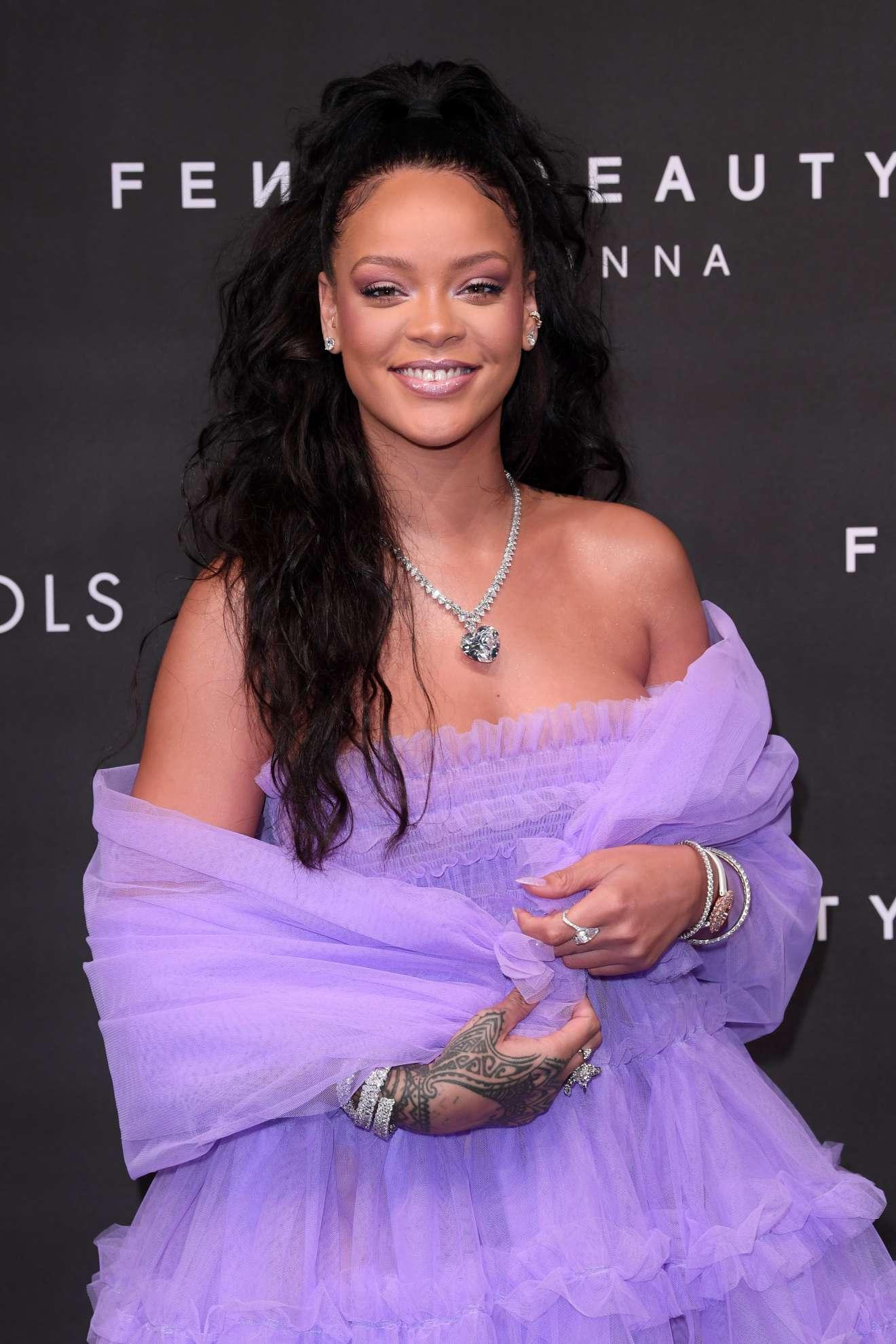 Rihanna Photocall At Fenty Beauty By Rihanna London