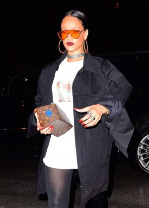 Rihanna Rocks Heads to Global Citizen After Party in NYC