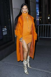 Rihanna - Seen at Bergdorf Goodman to introduce her Fenty Collection in New York City