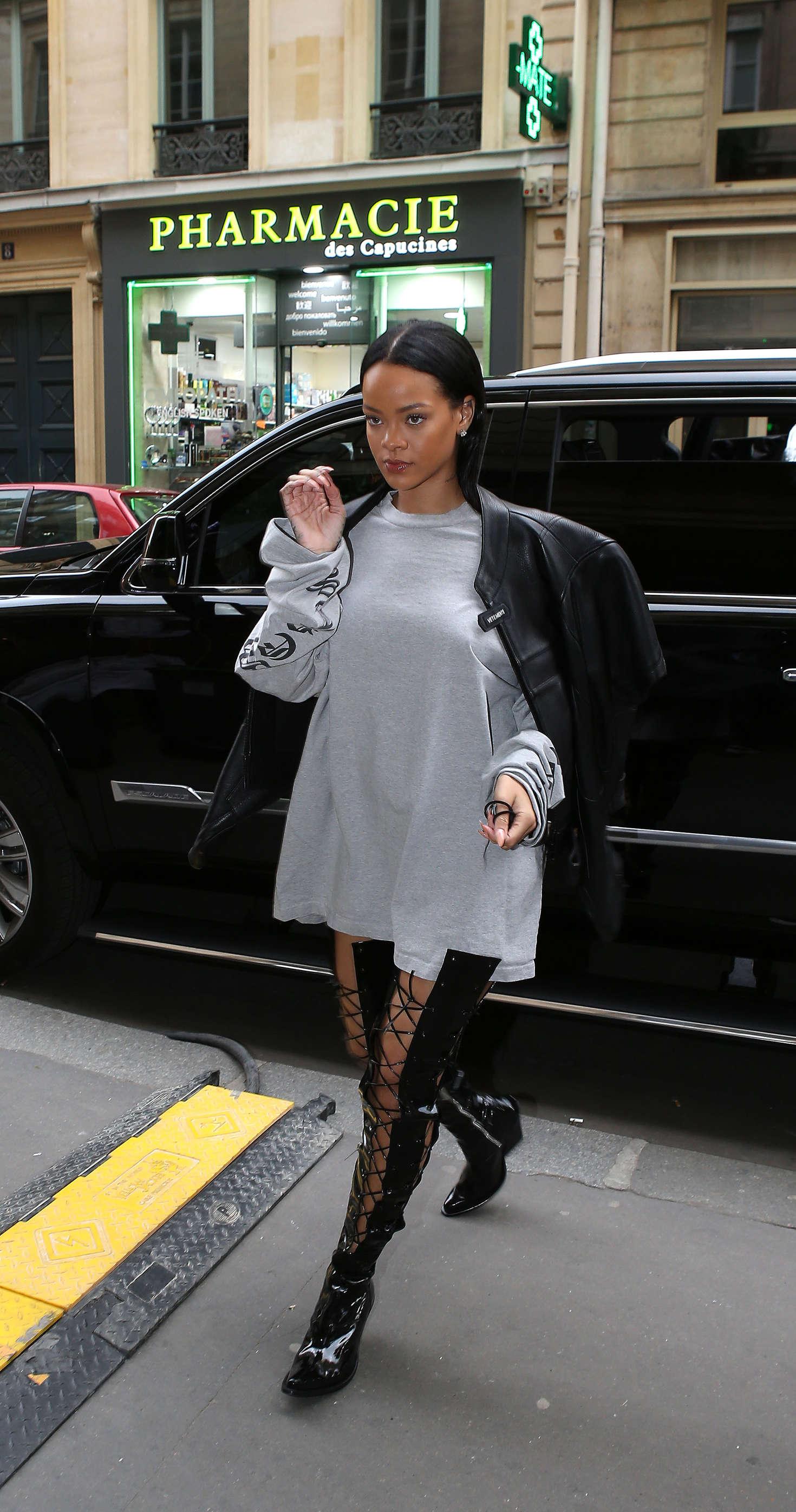 Rihanna - Shooting for Puma in Paris