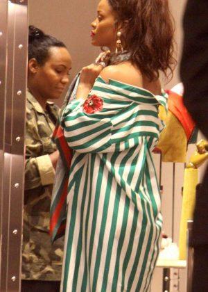 Rihanna Shopping at Gucci's in Milan