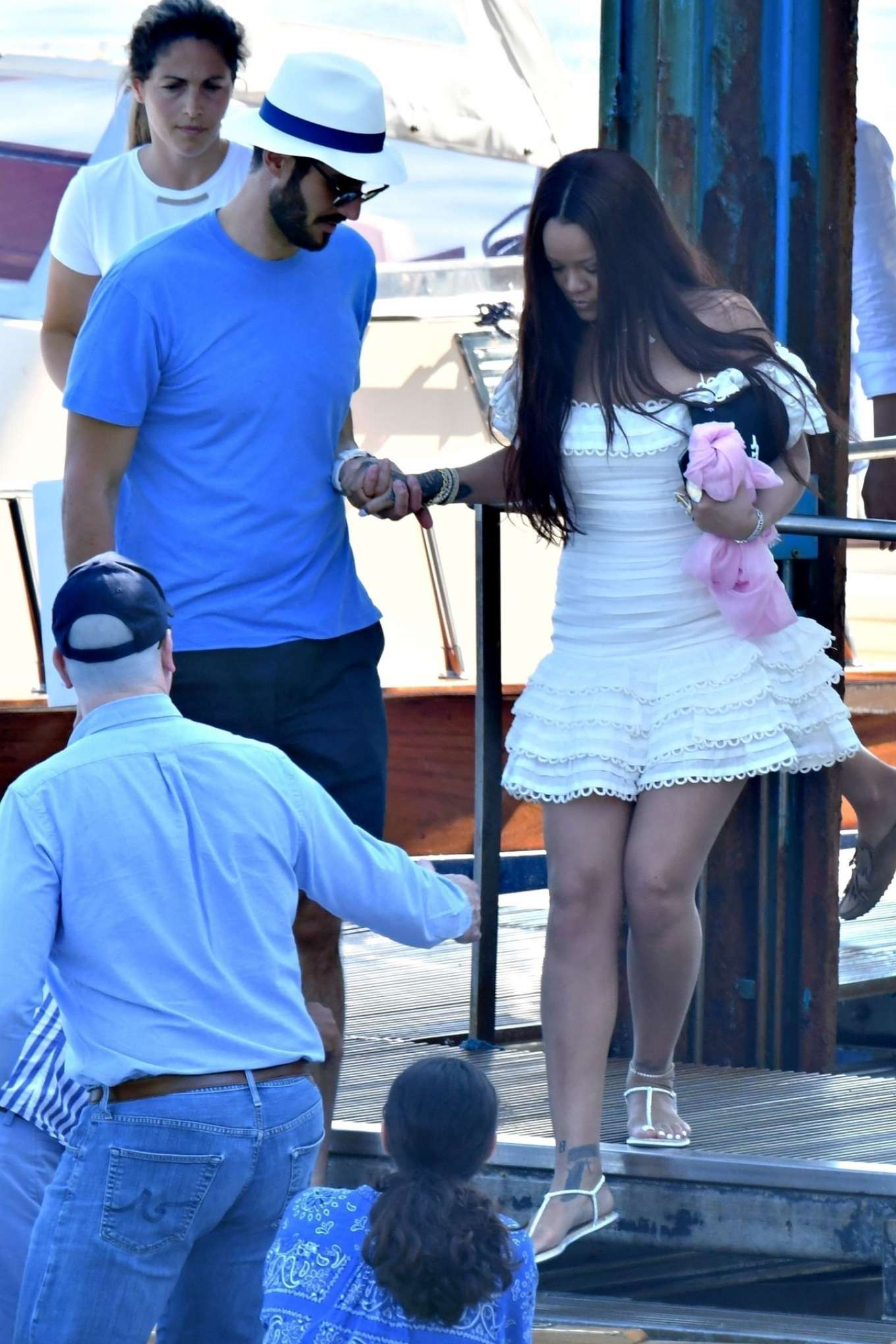 Rihanna - Spotted on a boat in Italy with her boyfriend