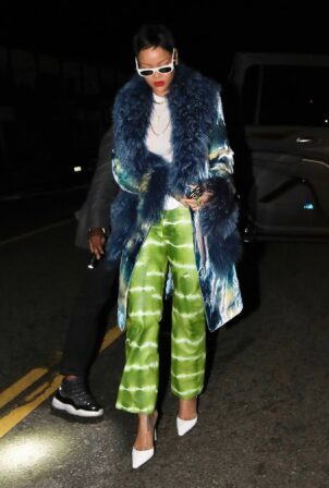 Rihanna - With new short hair style at Giorgio Baldi in Santa Monica