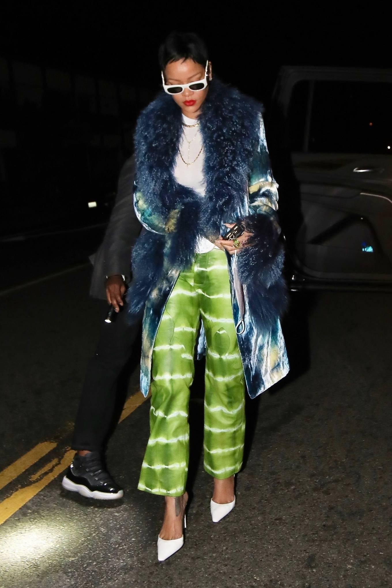 Rihanna - With new short hair style at Giorgio Baldi in Santa Monica