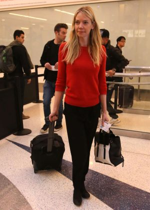 Riki Lindhome at LAX Airport in LA