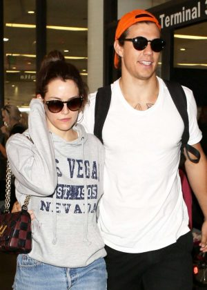 Riley Keough and husband Ben Smith-Petersen at LAX Airport in LA